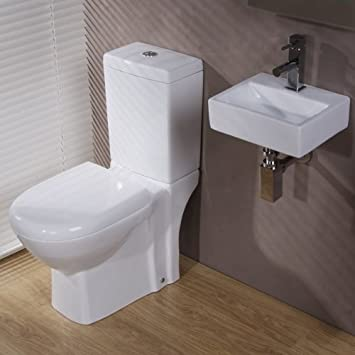 Bathroom Cloakroom Suite Toilet Basin Sink Set White. Bathroom Cloakroom Suite Toilet Basin Sink Set White  Amazon co uk