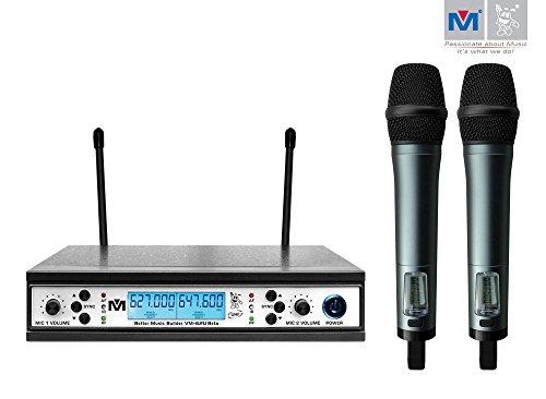 Better Music Builder VM-62U Beta Pro UHF Wireless Microphone System by Better Music Builder
