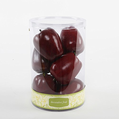 FT1376 Artificial 8 Scented Apples in Cylinder Box-12 Boxes by Flora Bunda
