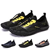 Bridawn Men Women Water Sports Shoes Barefoot Quick-Dry Shoes for Beach Swim Surfing Water Activities