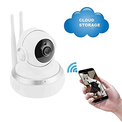 WIRELESS SECURITY CAMERAS, 1080P HOME INDOOR WIFI IP CLOUD STORAGE TWO WAY AUDIO DOME /PAN / TILT/ ZOOM NIGHT VISION SURVEILLANCE CAMERA for baby/dog /pet/kids video monitors