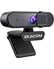 Webcam with Microphone , EKACOM Full HD 1080P Web Camera with Auto Colour Correction, Privacy Cover, USB 2.0 Plug and Play, AutoFocus, for Laptop MAC PC Desktop, Conference, Gaming, Online Classes, Skype