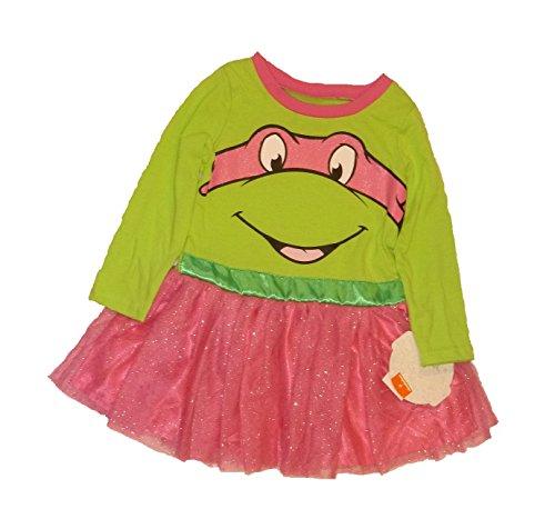 Toddler Girls Teenage Mutant Ninja Turtles Pink Tutu Dress (3T)