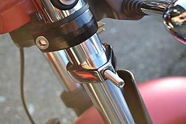 Schwarz Motorrad Blinker Austausch Klammergabel Klammern 39mm