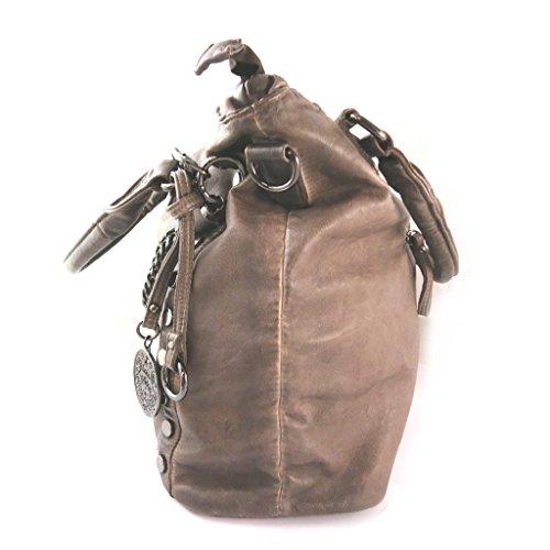 Bolsa de diseñador 'Lois Jean'de la vendimia del chocolate - 41x30x15 cm.