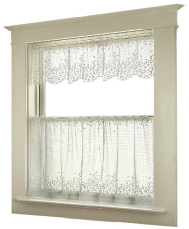 Heritage Lace Blossom 42-Inch Wide by 24 - Lace Kitchen Curtains Shopping Results