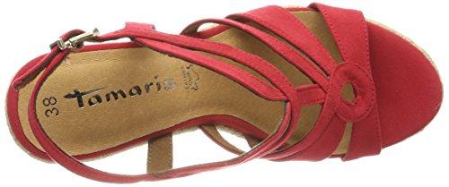 Rosso Sandali 28374 alla Tamaris con Lipstick Donna Caviglia Cinturino S6wxUqP