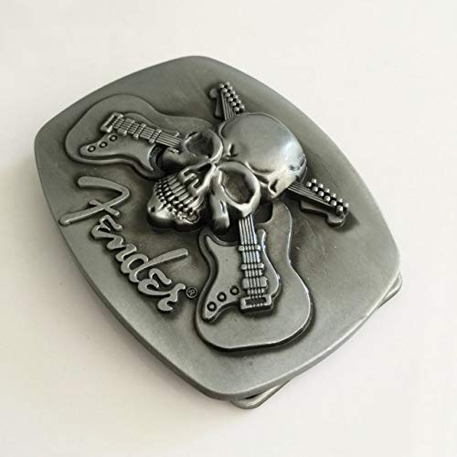 Buckes - Promotion Skull Series Belt Buckle Man and Woman Jeans Guitar Music Buckles Cosplay Gift Fit 4cm Width Belt Head - (Color: 1)
