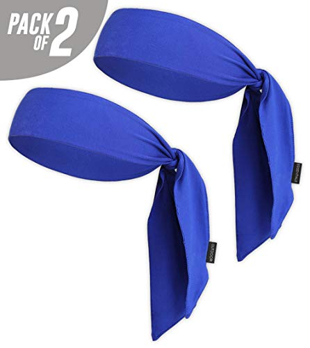 Head Tie & Sports Headband - Keep Sweat & Hair Out of Your Face - Ideal for Running, Working Out, Tennis, Karate, Athletics & Pirates. Performance Stretch & Moisture Wicking ()