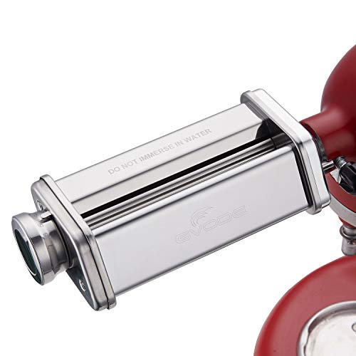 Gvode Pasta Sheet Roller Attachment for KitchenAid Stand Mixer, Stainless Steel Pasta Maker Machine Accessories