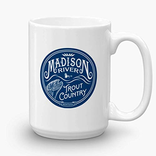 (Madison River, Trout Country, coffee mug)