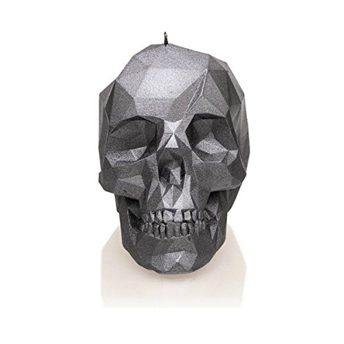 Candellana Candles Candellana- Skull Poly Candle-Steel, (Dog Skeleton Candle)