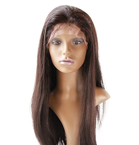 Cheap Front Lace Wig 100% human hair Wig Chinese Virgin Remy Human Hair Natural Straight Color #1b