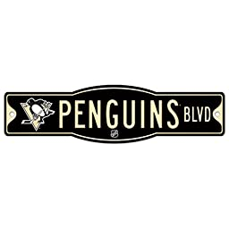 NHL Pittsburgh Penguins 27836010 Street/Zone Sign, 4.5\