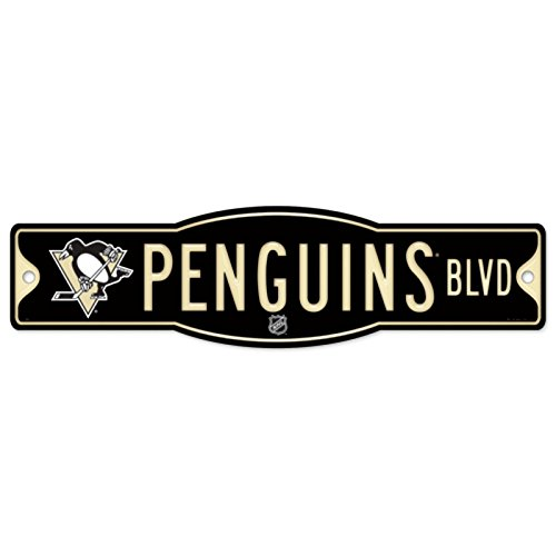 "NHL Pittsburgh Penguins 27836010 Street/Zone Sign, 4.5"" x 17"""