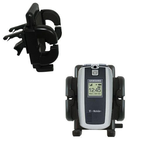 Gomadic Air Vent Clip Based Cradle Holder Car / Auto Mount suitable for the Samsung - Sgh Cell T719