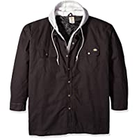 Men's Canvas Shirt Jacket with Quilted Lining