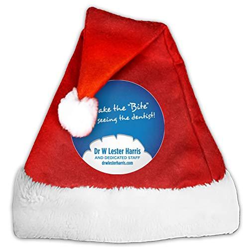Dr W Lester Harris Christmas Hat Kids Santa Claus Child Cap Xmas Ornament Decor Festival Party Cap Decorations -