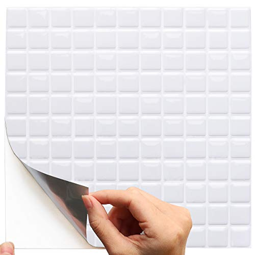 Yoillione 3d Mosaic Wall Stickers Tiles Kitchen Tile Transfers Stickers Bathroom Tiles Self Adhesive Tile Stickers Flooring Supplies