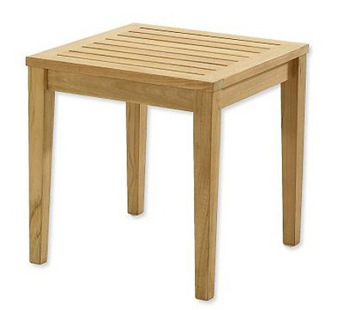 New Grade A Teak Wood Sack 20.75″ Square Side Table / End Stool #WHAXSTSK