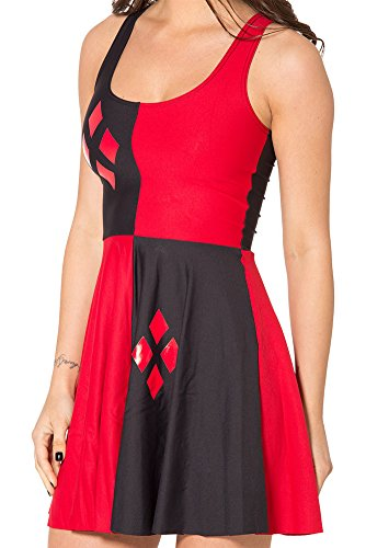 Sister Amy Women's Galaxy Printed Elastic Sleeveless Shaping Camisole Skater Black/Red US XXL