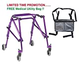 Drive Nimbo 2G Lightweight Posterior Walker, Medium, Wizard Purple & FREE Medical Utility Bag Gray! - #KA3200-2GWP