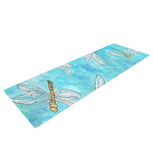 Kess InHouse Rosie Brown Yoga Exercise Mat, Dragonfly, 72 x 24-Inch