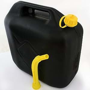 Bidón gasolina, 20 litros, plástico negro