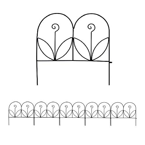 - MTB Decorative Garden Border Fence Panel 18 in x 18 in, Pack of 5, Totally 7.5 ft, Decorative Wire Fencing Garden Border Edging Garden Fence Animal Barrier