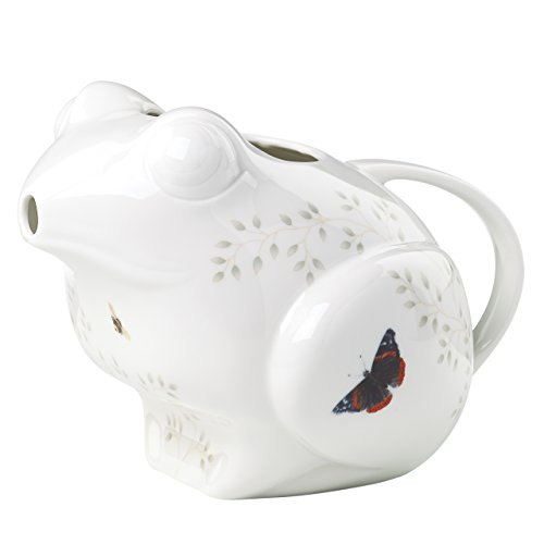 Lenox 857686 Butterfly Meadow Figural Frog Pitcher, Multicolor
