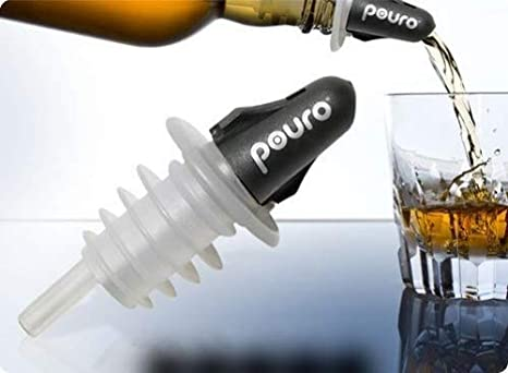 Twist Closed to Store /… Pouro Plastic Liquor Pourer Spout 3 Pk Twist Open to Pour