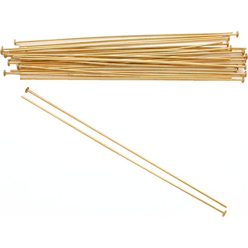 25 14K Gold Filled Headpins Jewelry 24 Ga 2 Inches New