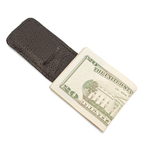 Black Stingray Money Genuine Stingray Clip Genuine Leather Magnetic q6WfHg