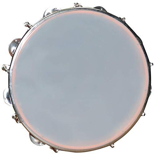 "Bansal & Co Musicals 8"" Fibre Dafli/Tambourine Hand Percussion Musical Instrument, Random Colour"