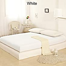 CONGO LINEN 350 TC Italian Finish Egyptian Cotton Luxurious Fitted Sheet 350 TC Solid ( Full XL , White )