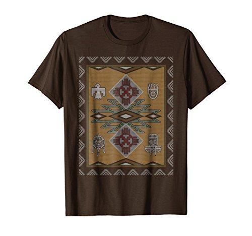 Mens Native American Navajo Rug Style T-Shirt Medium ()