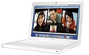 "Apple MacBook MB061LL/A 13.3"" Notebook PC (2.0 GHz Intel Core 2 Duo Processor, 1 GB RAM, 80 GB Hard Drive, Combo Drive) White"