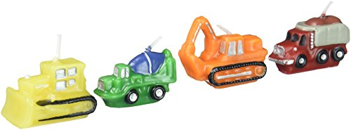 Construction Vehicles Birthday Candles by -