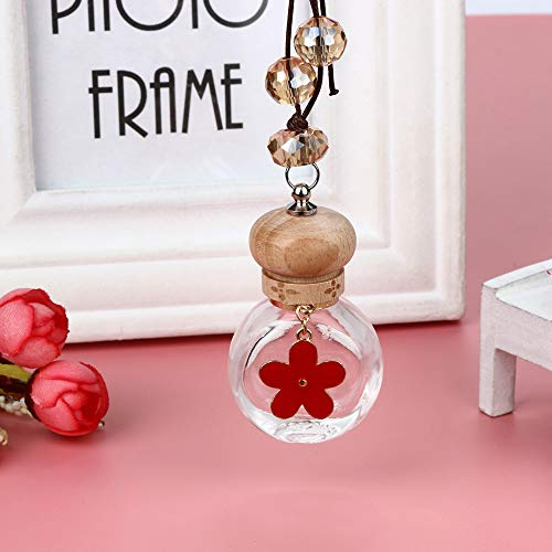 Gotian Car 6ml Glass Perfume Bottle for Air Fresheners Auto Car Styling Ornament Perfume Pendant (Red)