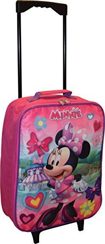 Disney Minnie Mouse 15'' Collapsible Wheeled Pilot Case - Rolling Luggage