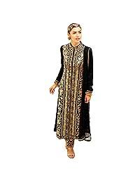 Lavri Women's Designer Anarkali Wedding Bridal Semi-Stitched Salwar Kameez