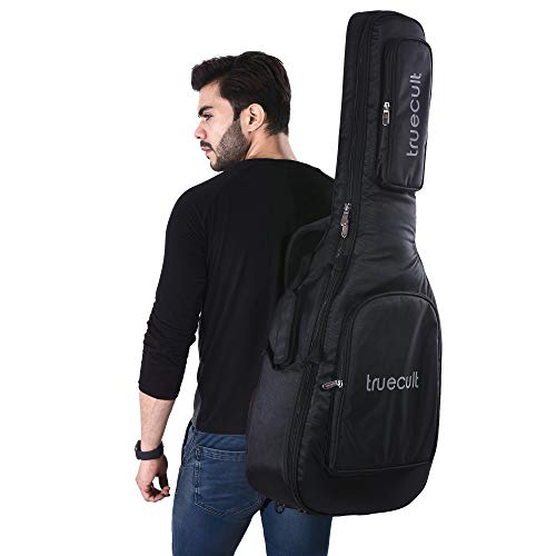 True-Cult-Acoustic-Guitar-BagCover-with-Foam-Padding-Black-Strong-and-Durable-for-all-sizes-and-shapes-folkclassical-guitars-38-39-40-41