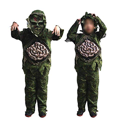 Children Kid Boy Halloween Cosplay Scary Zombie Ghost Large Costume Party Props Stage Outfits -
