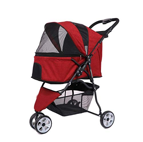 Pet Travel Stroller Cat Dog Pushchair Trolley Puppy for sale  Delivered anywhere in Canada