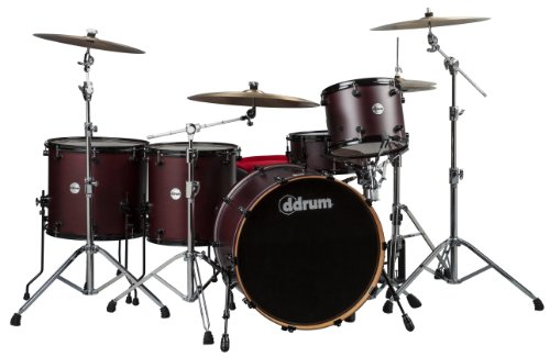 ddrum REFLEX PH 524 5PC WRS Reflex Powerhouse 24 5Piece Wine Red Satin Lacquer