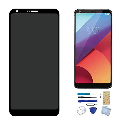 LCD Display Touch Screen Digitizer Assembly Screen Replacement for LG G6 H870 H871 H872 LS993 VS99 VS998 (Black), with Install Tools, Adhesive, Tempered Glass Screen - Replacement Lcd Screen Lg