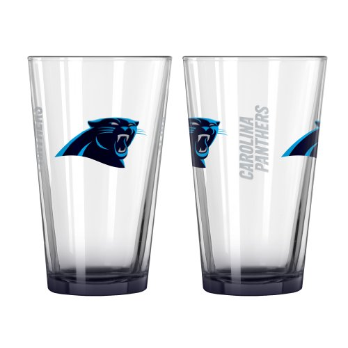 NFL Carolina Panthers Elite Pint Glass, 16-ounce, 2-Pack