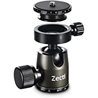 Zecti Tripod Head Aluminum Heavy Duty Ball Head with Double Panoramic Scale and Quick Release Plate For Camera Tripod Loading Capacity 17.63lbs