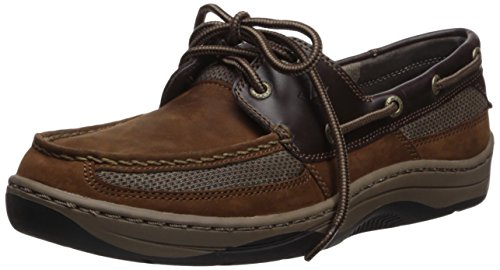 SPERRY Men's Tarpon 2-Eye Boat Shoe, BUC Brown, 10 (Sperrys Loafers Men)