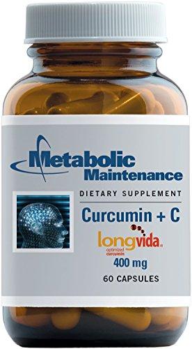 Metabolic Maintenance - Curcumin + C (Longvida) - 400 mg, High Absorption + Bioavailability, 60 Capsules by Metabolic Maintenance (Image #6)
